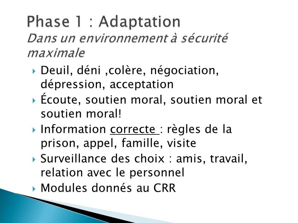 Phase 1 : Adaptation Dans un environnement à sécurité maximale