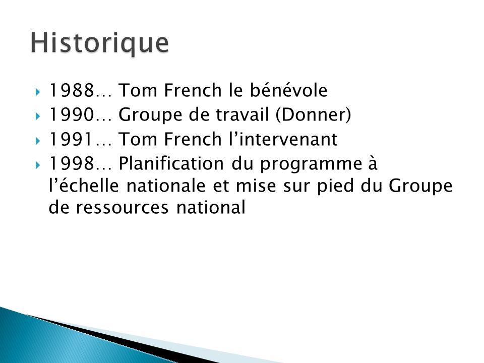 Historique 1988… Tom French le bénévole