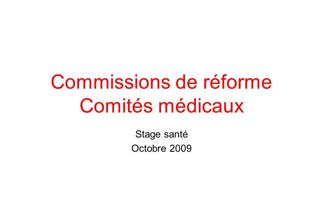 Commissions de réforme Comités médicaux