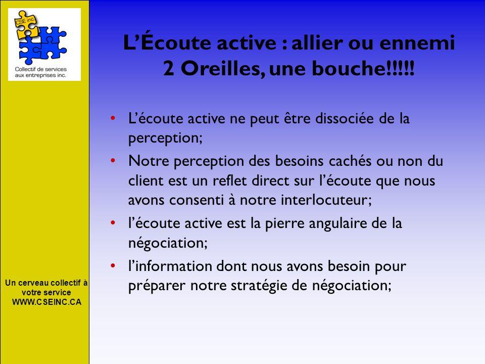 L'Écoute active : allier ou ennemi 2 Oreilles, une bouche!!!!!