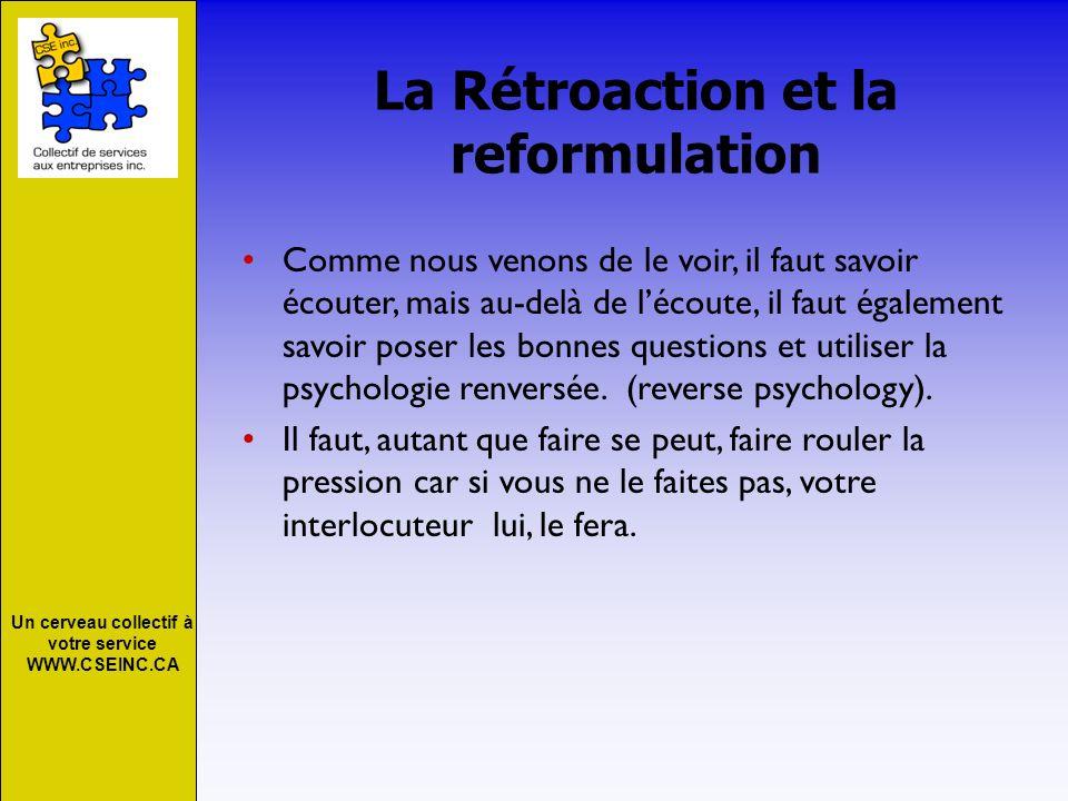 La Rétroaction et la reformulation