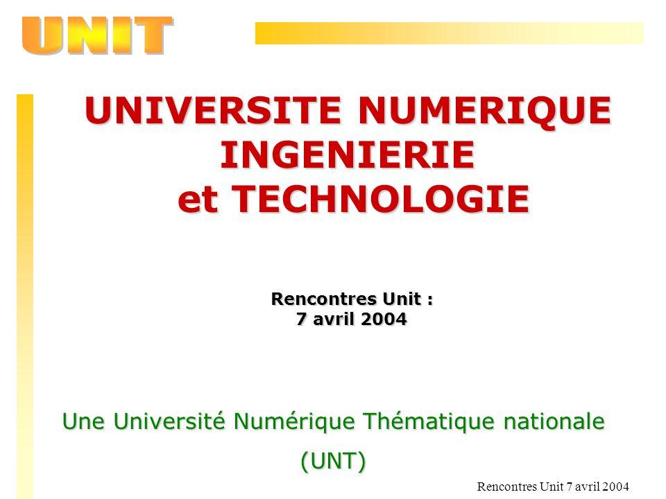 Une Université Numérique Thématique nationale