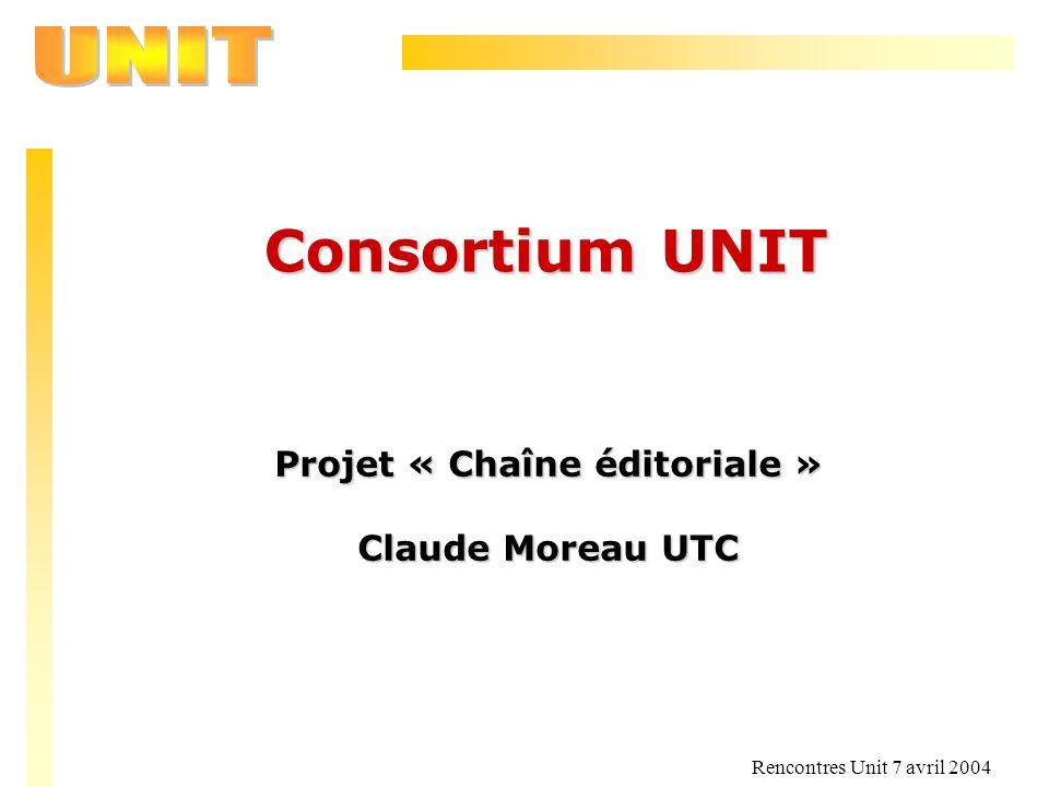 Projet « Chaîne éditoriale »