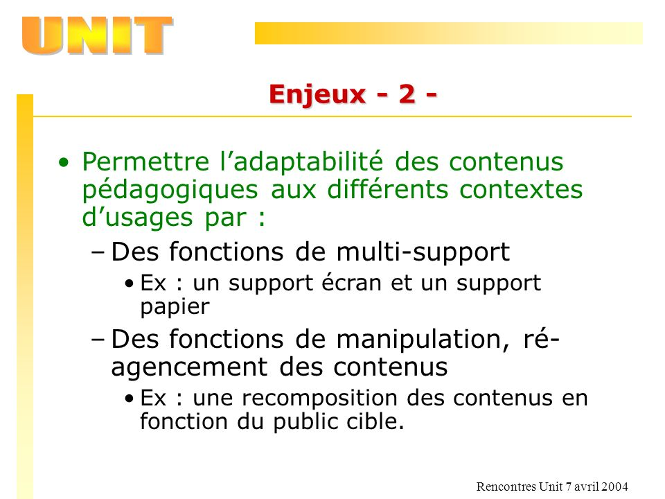 Des fonctions de multi-support