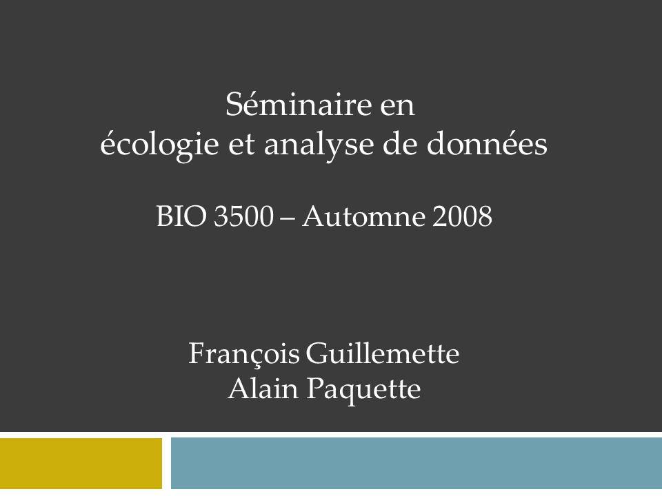 écologie et analyse de données
