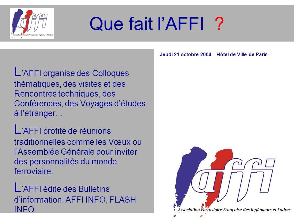 Que fait l'AFFI
