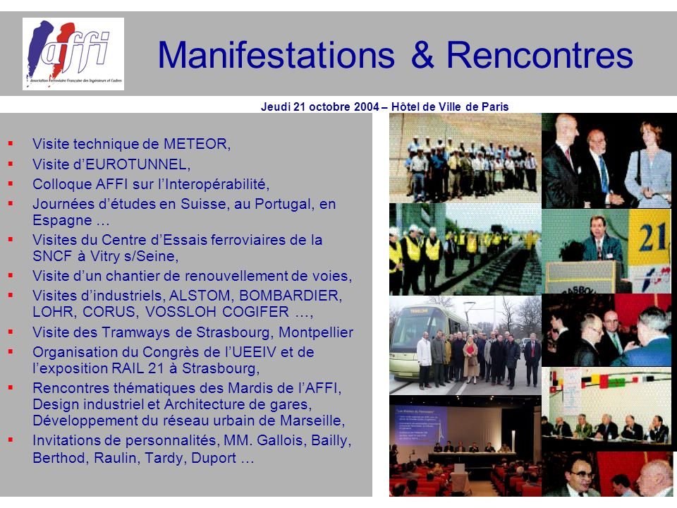 Manifestations & Rencontres