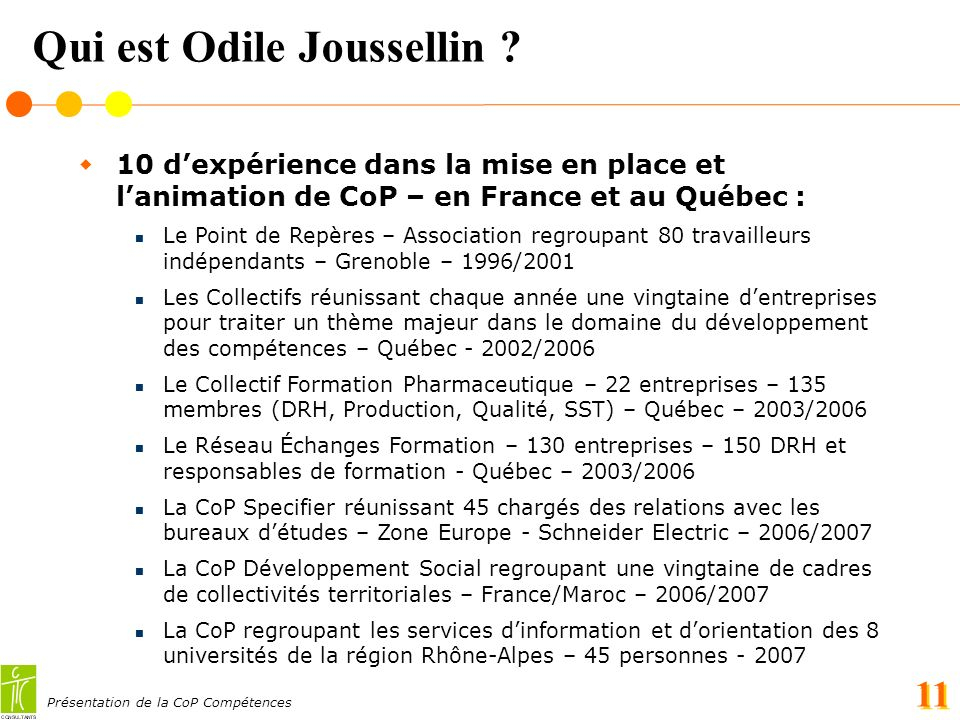 Qui est Odile Joussellin