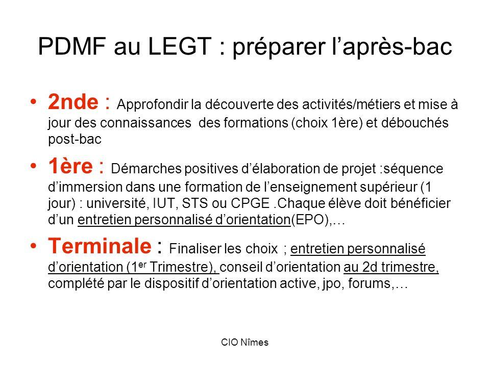 PDMF au LEGT : préparer l'après-bac
