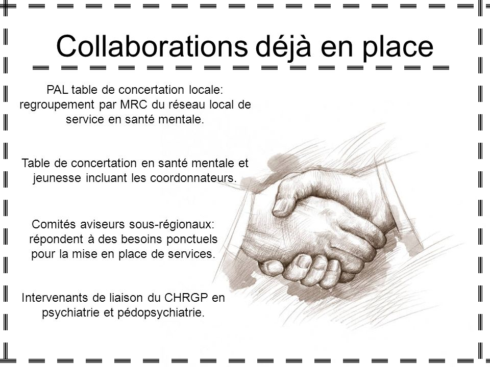 Collaborations déjà en place