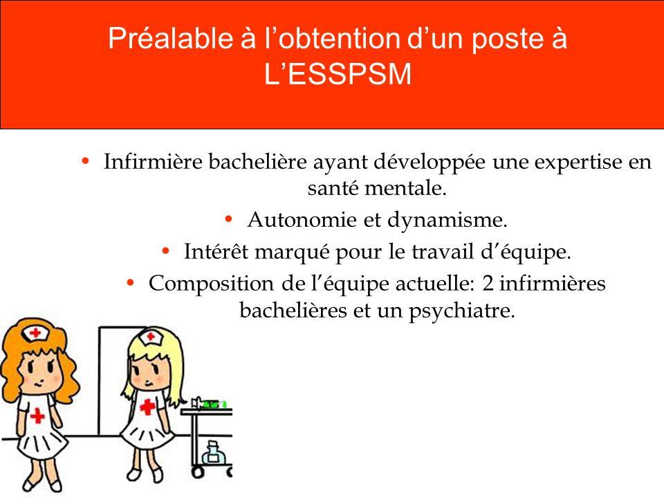 Préalable à l'obtention d'un poste à L'ESSPSM