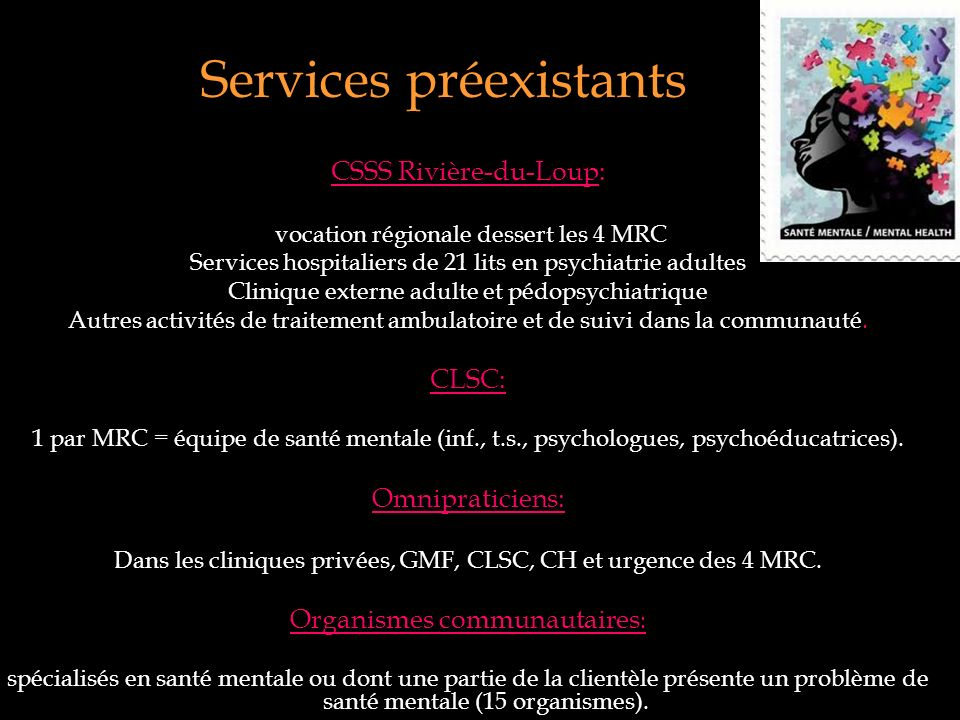 Services préexistants