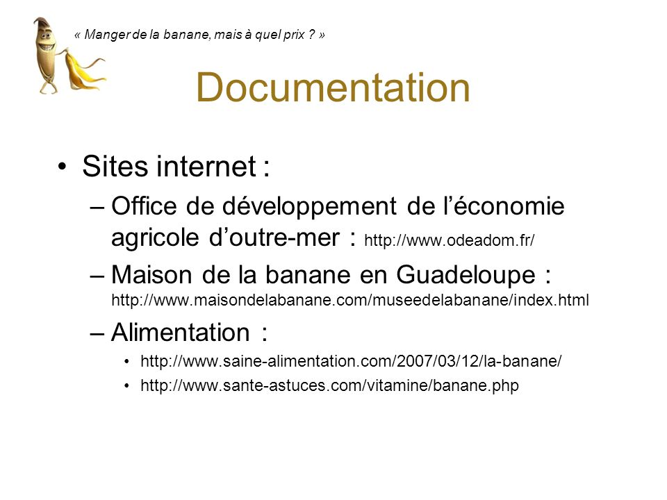 Documentation Sites internet :