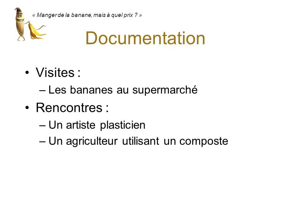 Documentation Visites : Rencontres : Les bananes au supermarché