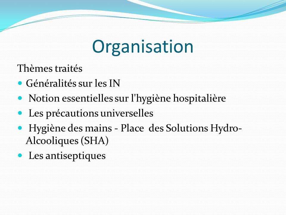 Organisation Thèmes traités Généralités sur les IN