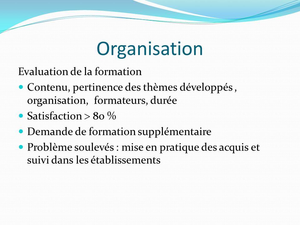 Organisation Evaluation de la formation