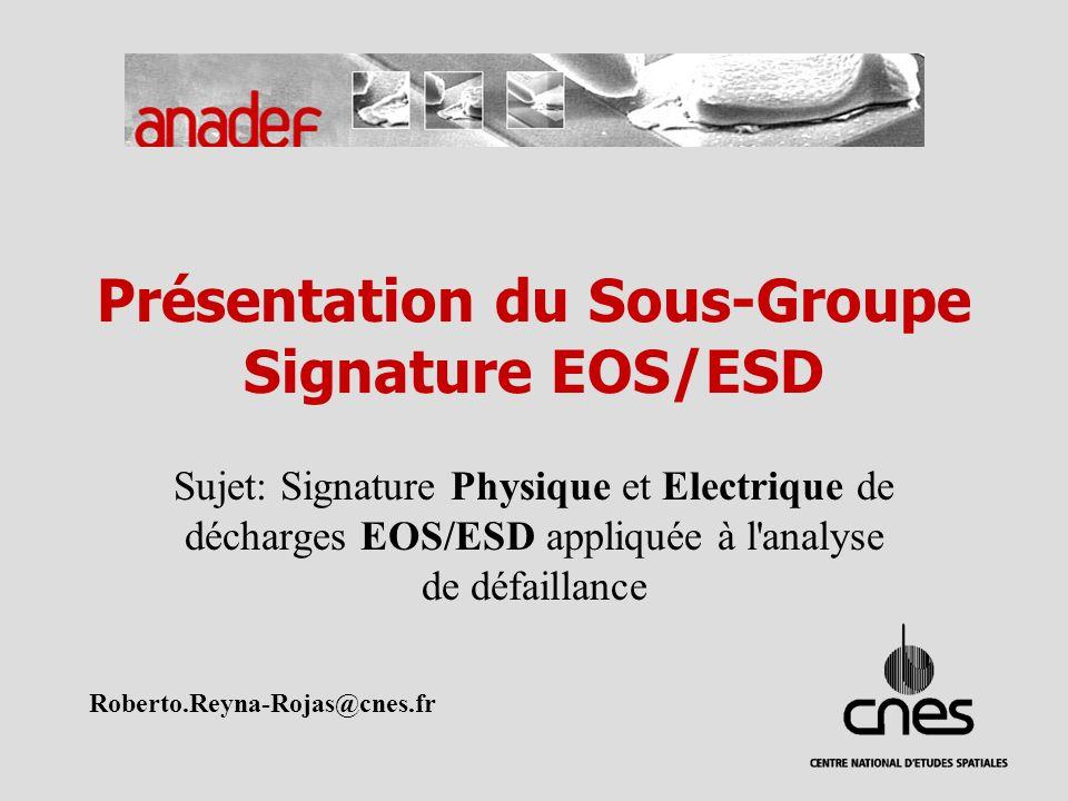 Présentation du Sous-Groupe Signature EOS/ESD
