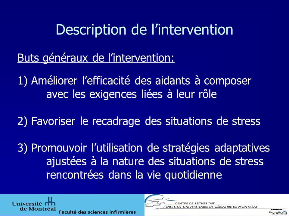 Description de l'intervention