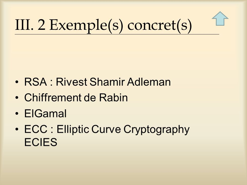 III. 2 Exemple(s) concret(s)