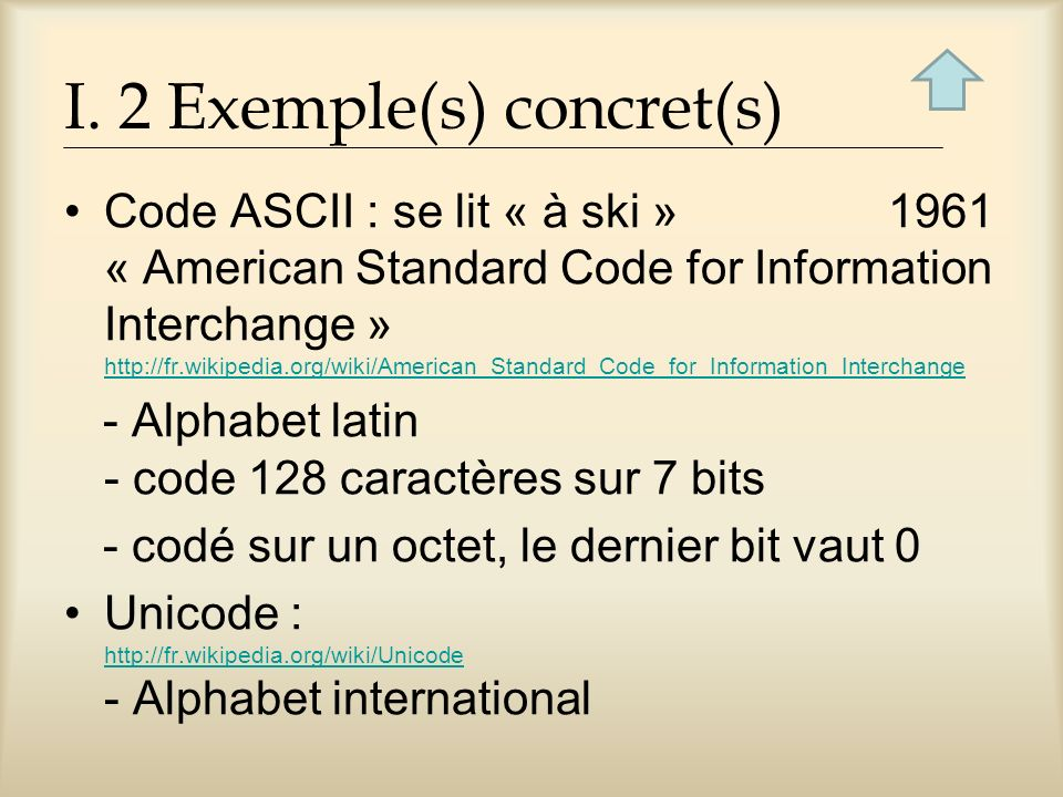 I. 2 Exemple(s) concret(s)