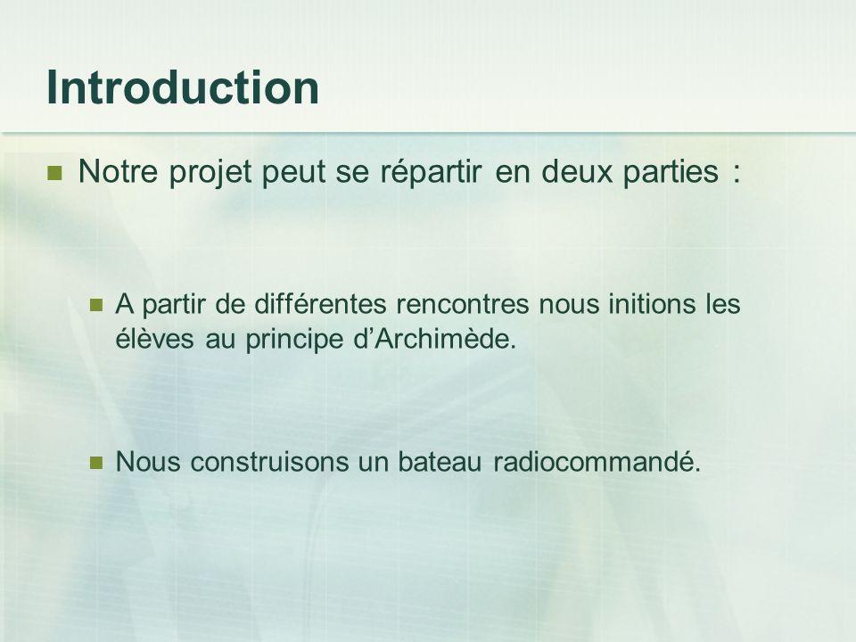Introduction Notre projet peut se répartir en deux parties :