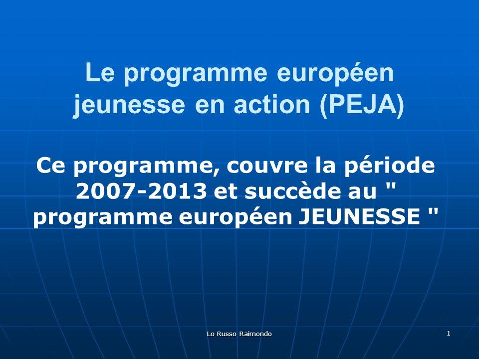 Le programme européen jeunesse en action (PEJA)