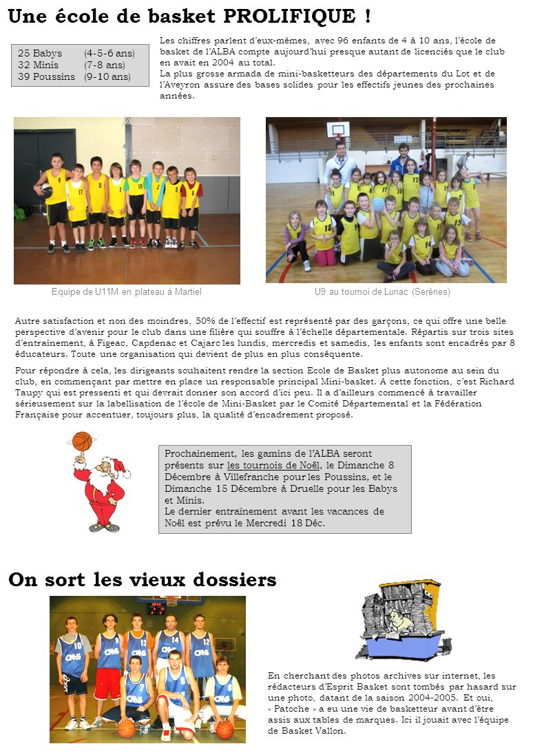 Une école de basket PROLIFIQUE !