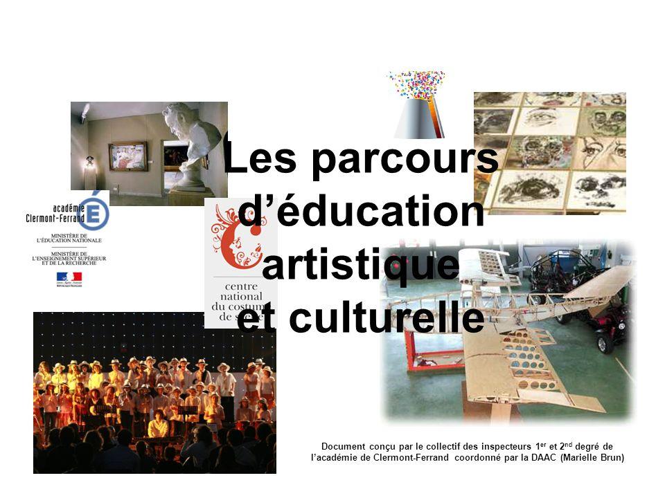 Les parcours d'éducation artistique