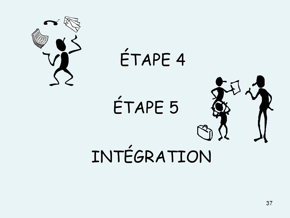 ÉTAPE 4 ÉTAPE 5 INTÉGRATION DOCUMENT 3