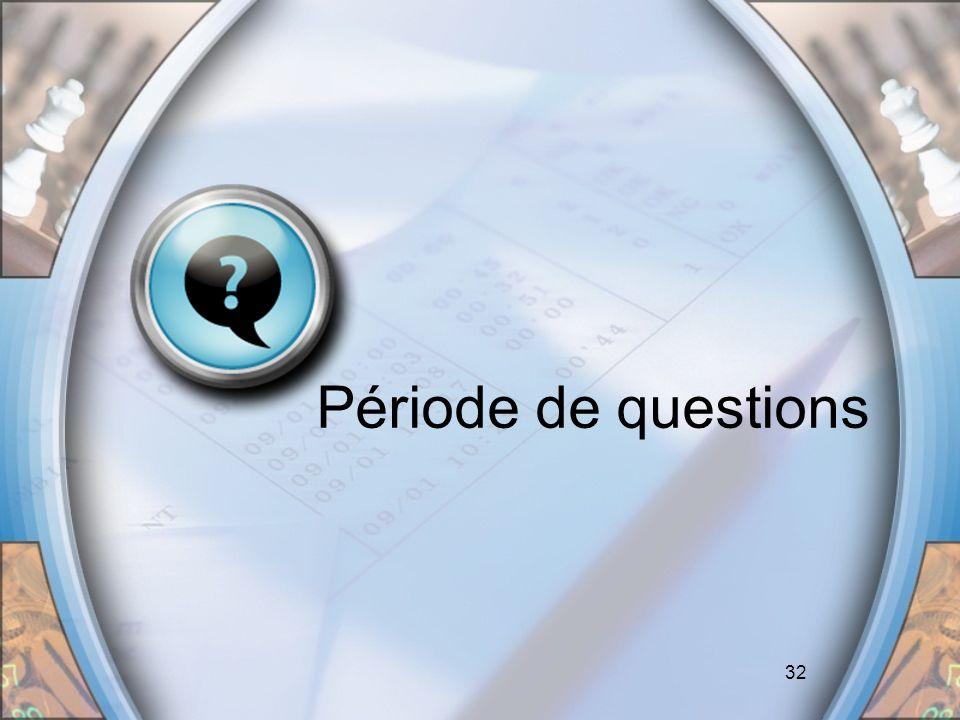 Période de questions