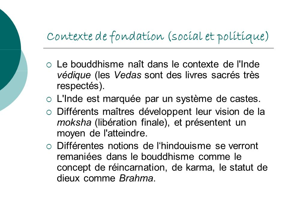 Contexte de fondation (social et politique)