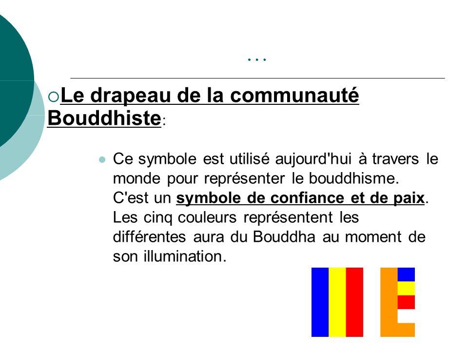 … Le drapeau de la communauté Bouddhiste: