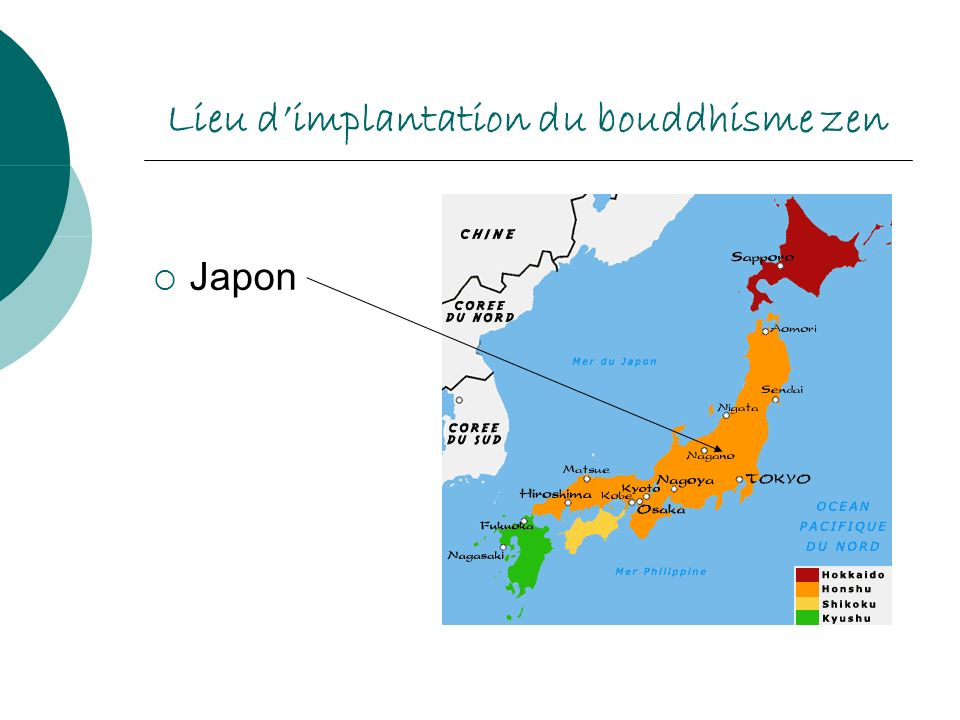 Lieu d'implantation du bouddhisme zen