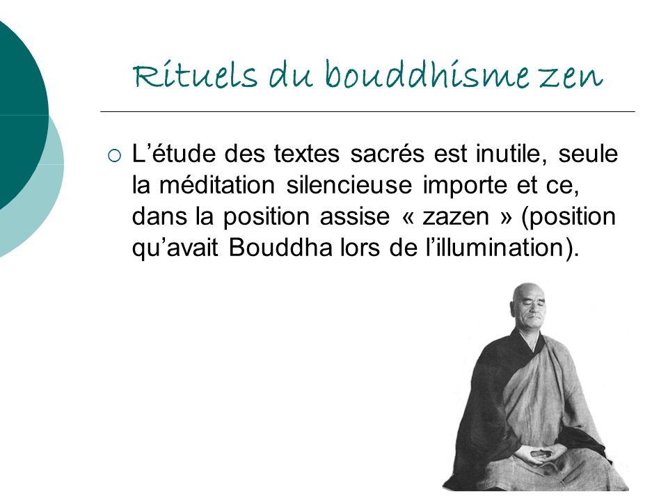 Rituels du bouddhisme zen