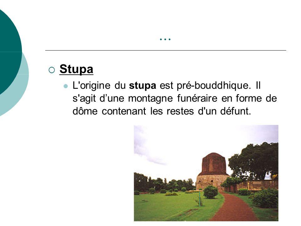 … Stupa. L origine du stupa est pré-bouddhique.