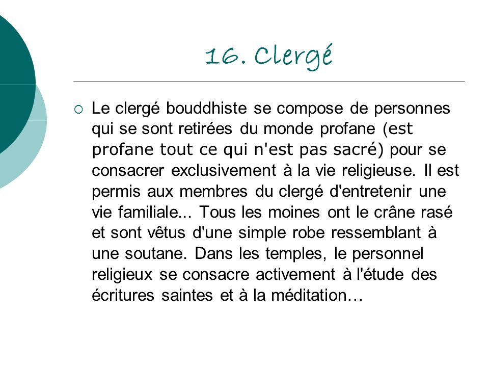 16. Clergé