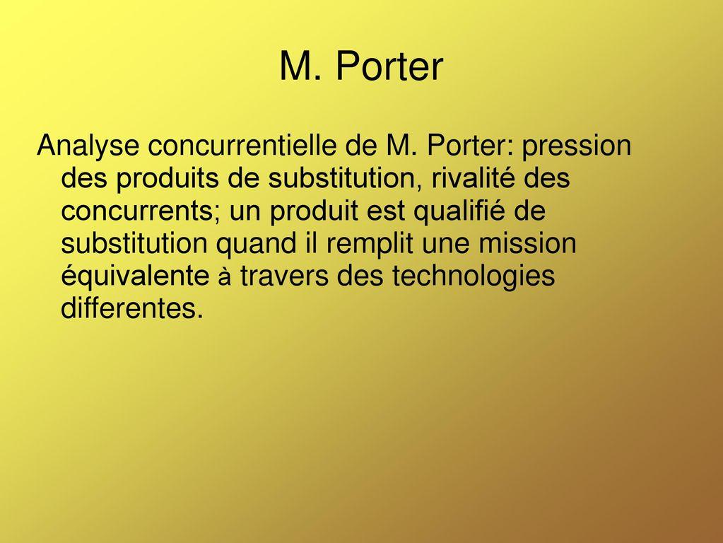 Management ii s2 cours du professeur el madi ppt t l charger - Analyse concurrentielle porter ...