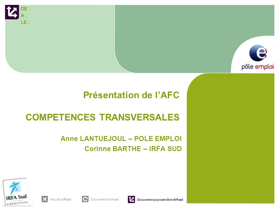 Présentation de l'AFC COMPETENCES TRANSVERSALES