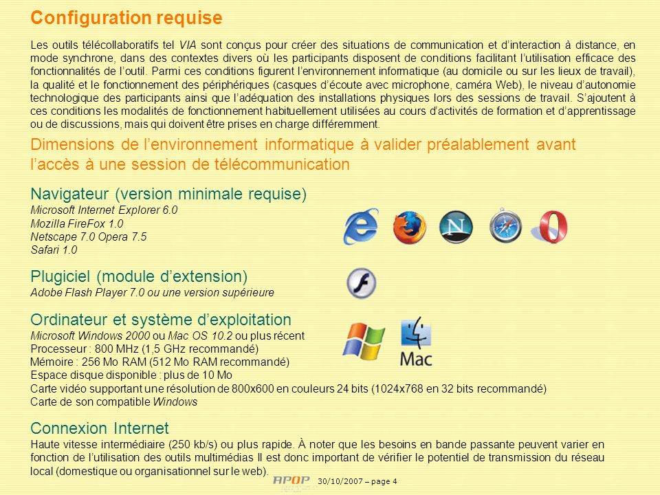 Configuration requise