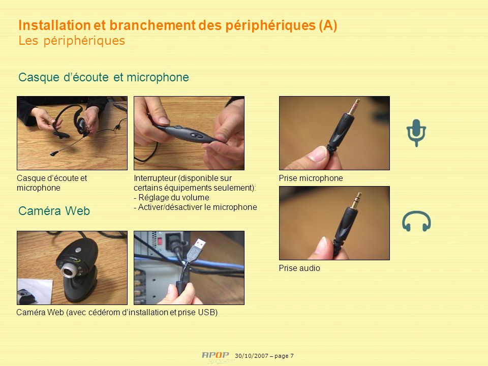 Installation et branchement des périphériques (A)