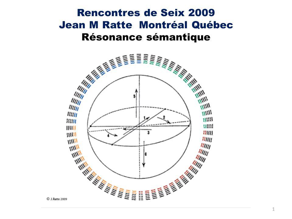 Rencontres de Seix 2009 Jean M Ratte Montréal Québec Résonance sémantique