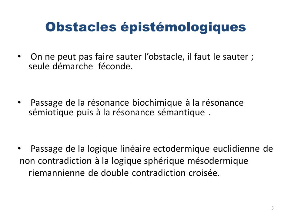 Obstacles épistémologiques