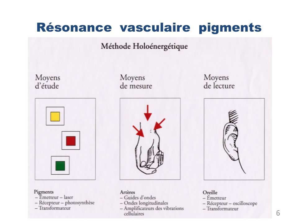 Résonance vasculaire pigments