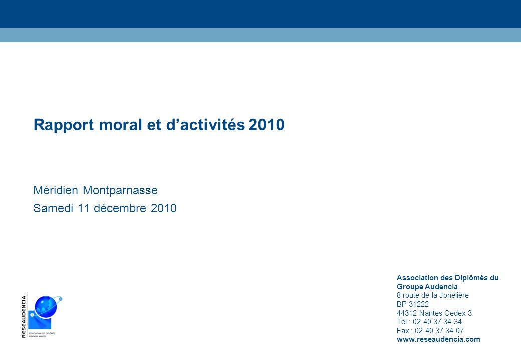 Rapport moral et d'activités 2010