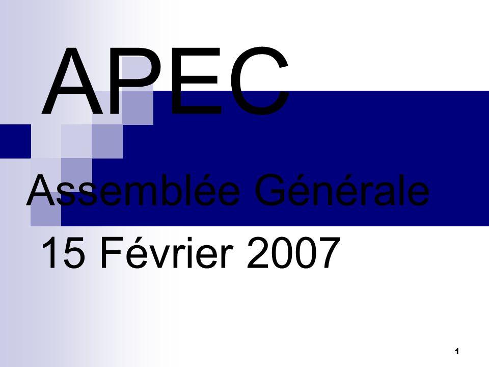 Assemblée Générale 15 Février 2007