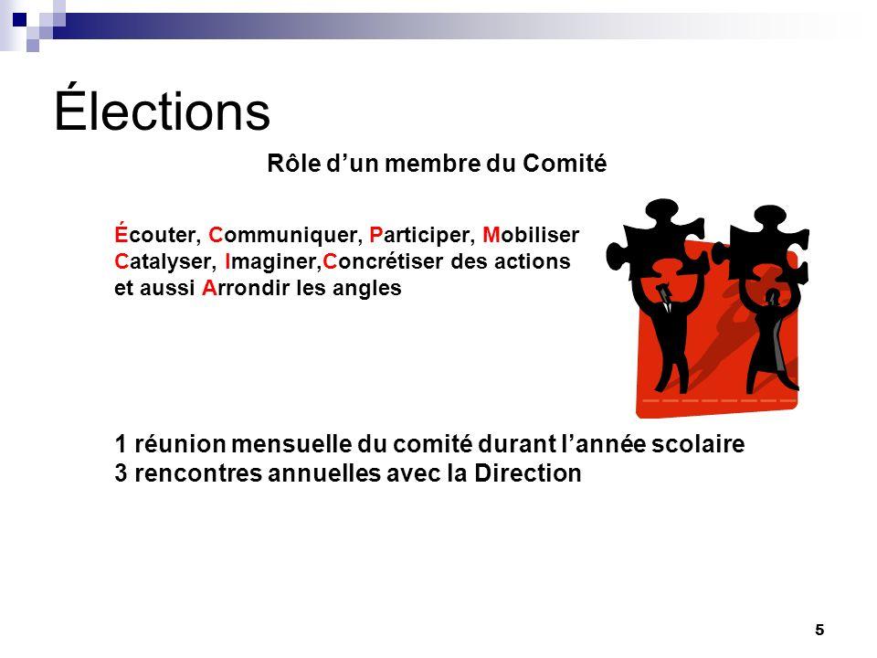 Élections 3 rencontres annuelles avec la Direction