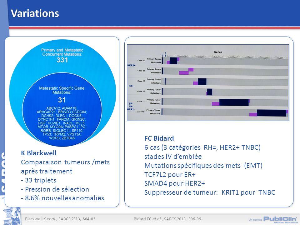 Variations FC Bidard 6 cas (3 catégories RH=, HER2+ TNBC)