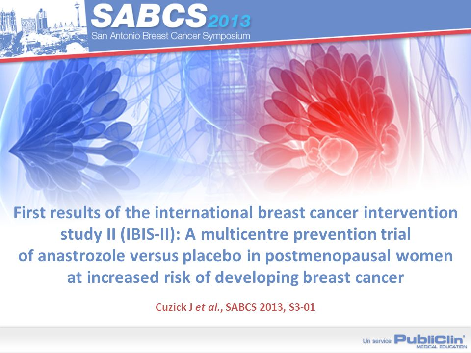 First results of the international breast cancer intervention study II (IBIS-II): A multicentre prevention trial of anastrozole versus placebo in postmenopausal women at increased risk of developing breast cancer