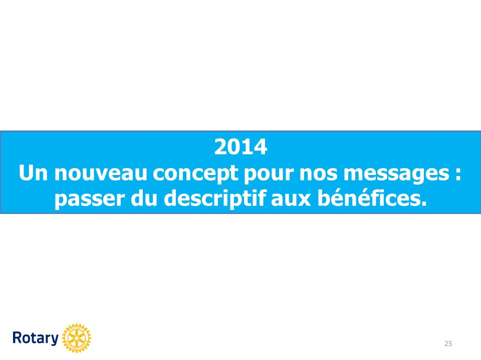 Un nouveau concept pour nos messages :