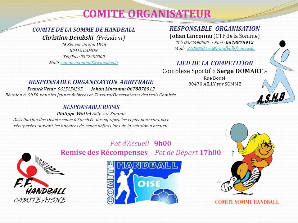 COMITE ORGANISATEUR Pot d'Accueil 9h00